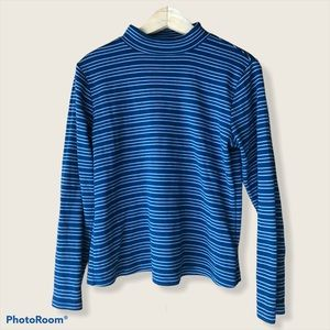 Tradition Blue striped turtleneck sweater